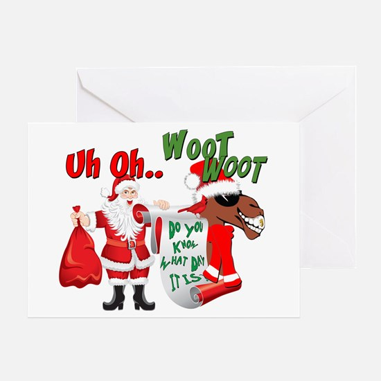 Uh Oh Hump Day Christmas Greeting Card