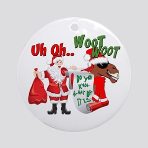 Uh Oh Hump Day Christmas Ornament (Round)