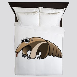 Cartoon Anteater Queen Duvet