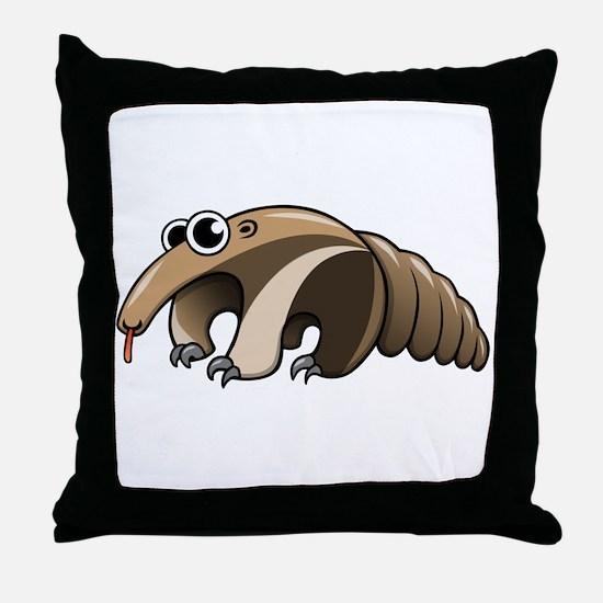 Cartoon Anteater Throw Pillow