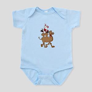 Santa on Hump Day Christmas Camel Infant Bodysuit