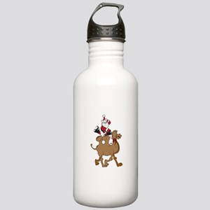 Santa on Hump Day Christmas Camel Stainless Water