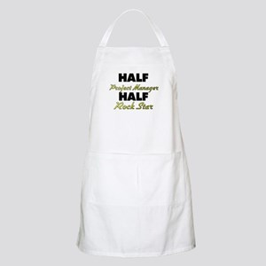 Half Project Manager Half Rock Star Apron