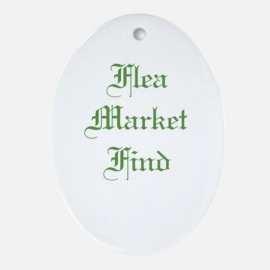 Flea Market Find Ornament (Oval)