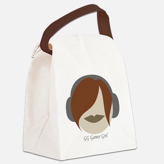GG Gamer Girl Canvas Lunch Bag