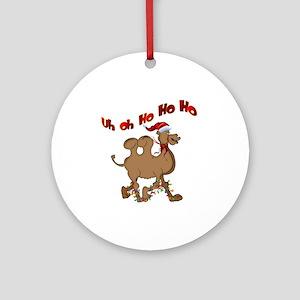 Ho Ho Ho Christmas Hump Day Ornament (Round)