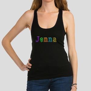 Jenna Shiny Colors Racerback Tank Top