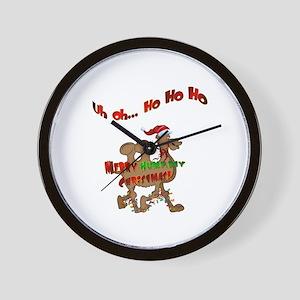 Ho Ho Ho Christmas Hump Day Camel Wall Clock