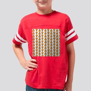 Pug in A Pumpkin Youth Football Shirt