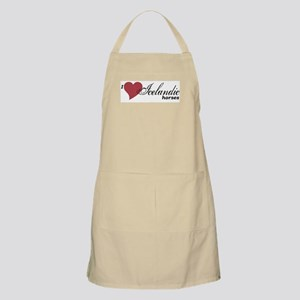 I (heart) Icelandic horses Light Apron