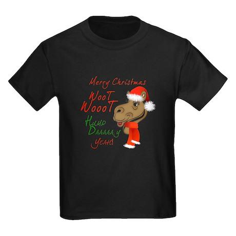 Merry Christmas Woot Woot Camel Kids Dark T-Shirt