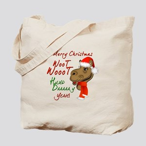 Merry Christmas Woot Woot Camel Tote Bag