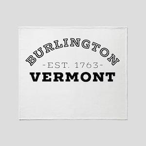 Burlington Vermont Throw Blanket
