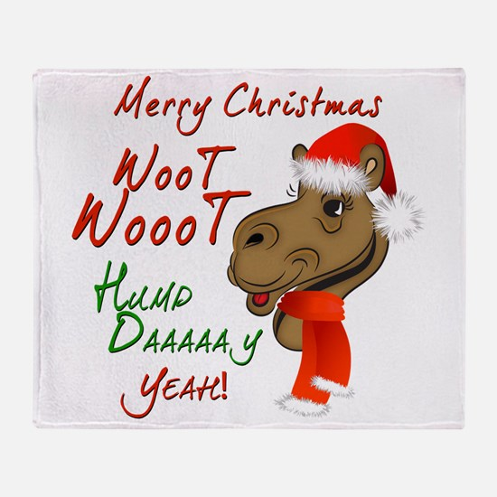 Merry Christmas Woot Woot Camel Throw Blanket
