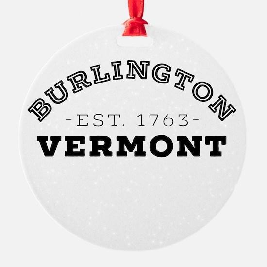 Burlington Vermont Ornament