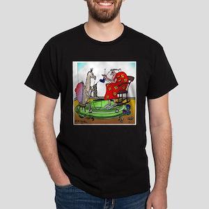 Llama Knitting Dark T-Shirt