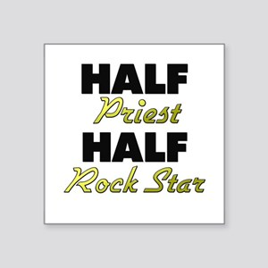Half Priest Half Rock Star Sticker
