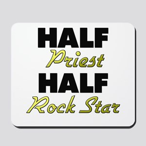 Half Priest Half Rock Star Mousepad
