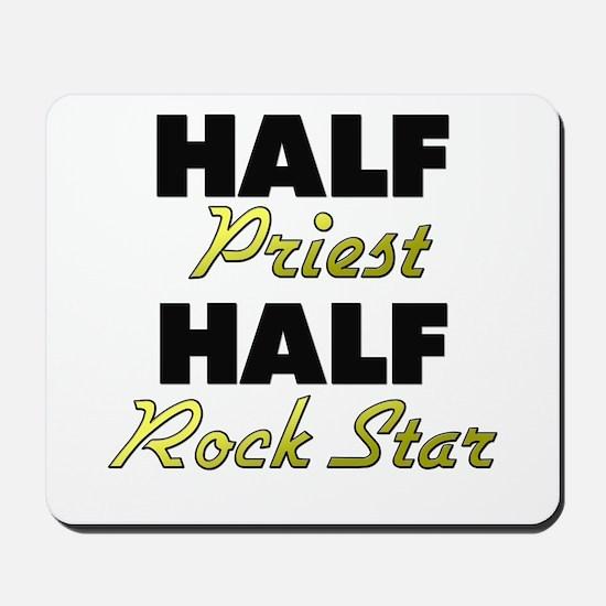 Half Priest Half Rock Star Mousepad