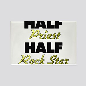 Half Priest Half Rock Star Magnets