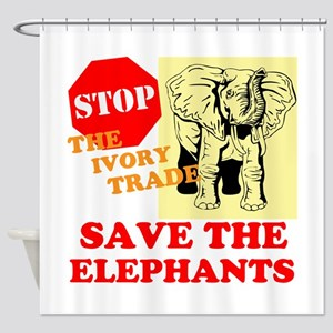 Ivory Trade Shower Curtain