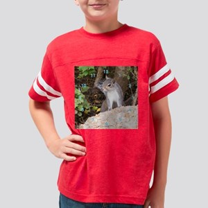 Pretty Squirrel Clock Youth Football Shirt
