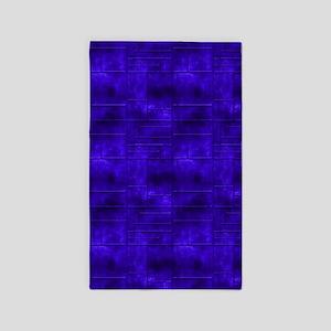 Industrial Blue Metal 3'x5' Area Rug