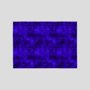 Industrial Blue Metal 5'x7'Area Rug