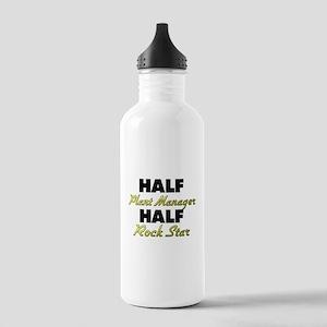 Half Plant Manager Half Rock Star Water Bottle