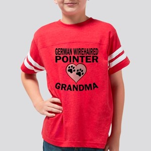 German Wirehaired Pointer Gra Youth Football Shirt