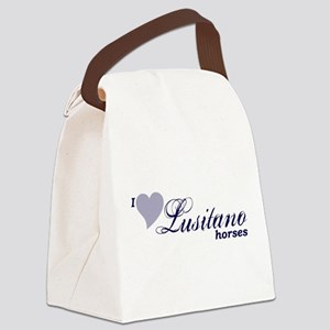 I love Lusitano horses Canvas Lunch Bag