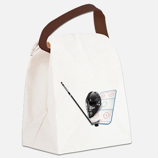 Hockey - Sports Canvas Lunch Bag
