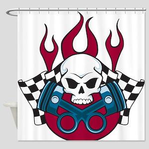 Hotrod - Race - Mechanic Shower Curtain