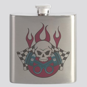 Hotrod - Race - Mechanic Flask