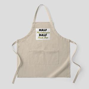 Half Physiotherapist Half Rock Star Apron