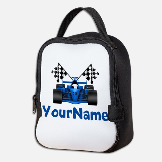 Race Car Personalized Neoprene Lunch Bag