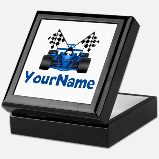 Race Car Personalized Keepsake Box