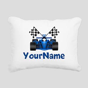 Race Car Personalized Rectangular Canvas Pillow