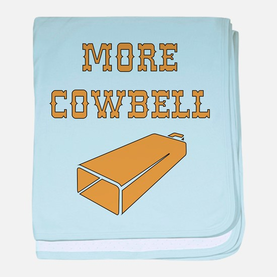 More Cowbell - Funny - Music baby blanket