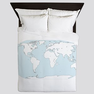 Map - Globe - World Queen Duvet