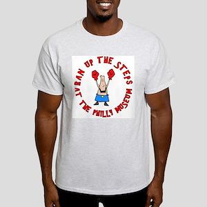 Ran The Steps At Philly Ash Grey T-Shirt