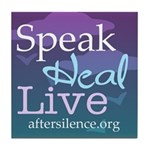 Speak, Heal, Live Tile Coaster