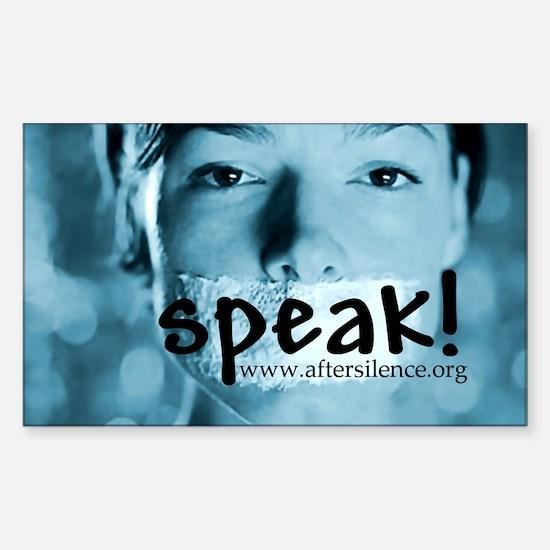 Speak Rectangle Decal