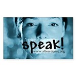 Speak Rectangle Sticker
