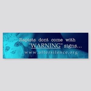 Warning Signs Bumper Sticker