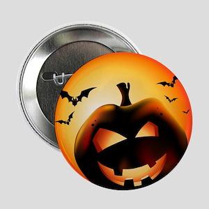 "Jack O'Lantern 2.25"" Button"