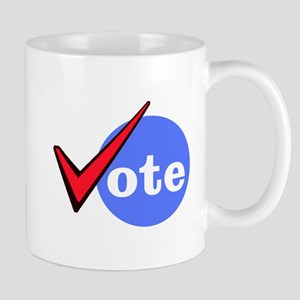 Vote with Check Mark Mugs