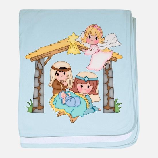 Childrens Nativity baby blanket