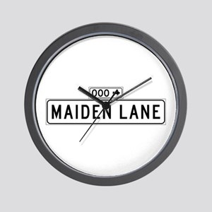 Maiden Lane, San Francisco - USA Wall Clock