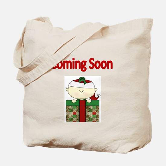 Coming soon with xmas baby Tote Bag